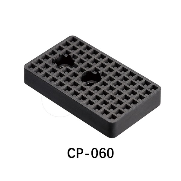 微型气缸用挡板-方型-黑色2个孔