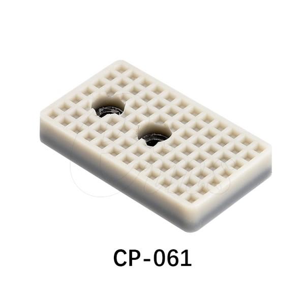 微型气缸用挡板 角型(白色2个孔)